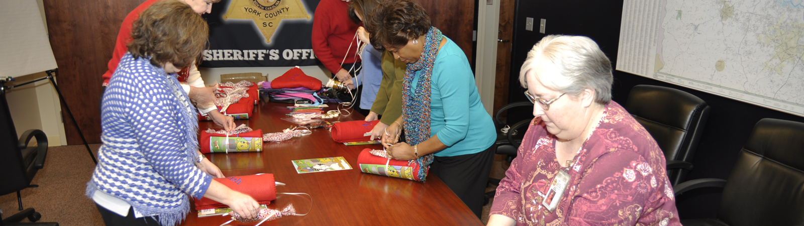 Annual Christmas event at the Children's Attention Home